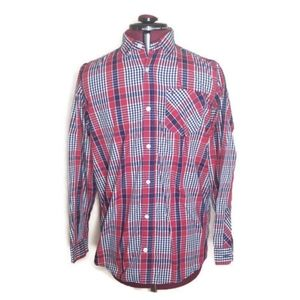 Tommy Hilfiger Red, White and Blue plaid button up